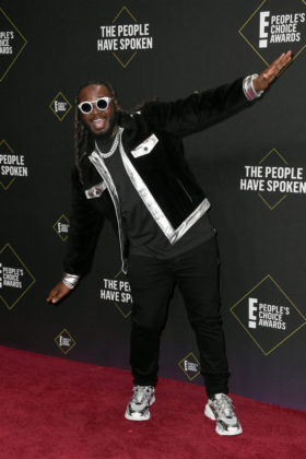 T-Pain At E! People's Choice Awards 2019 red carpet.