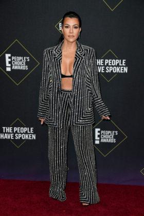 Kourtney Kardashian At E! People's Choice Awards 2019 red carpet.