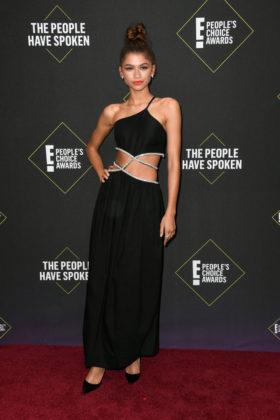 Zendaya At E! People's Choice Awards 2019 red carpet.
