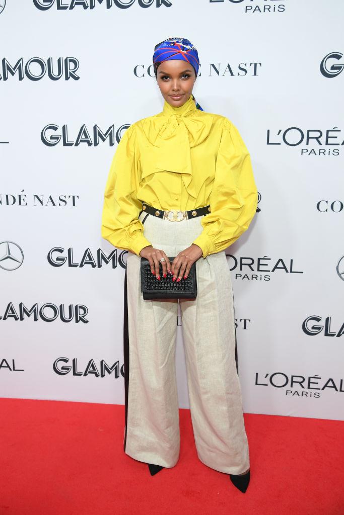 Halima Aden oat Glamour Women Of The Year Awards 2019