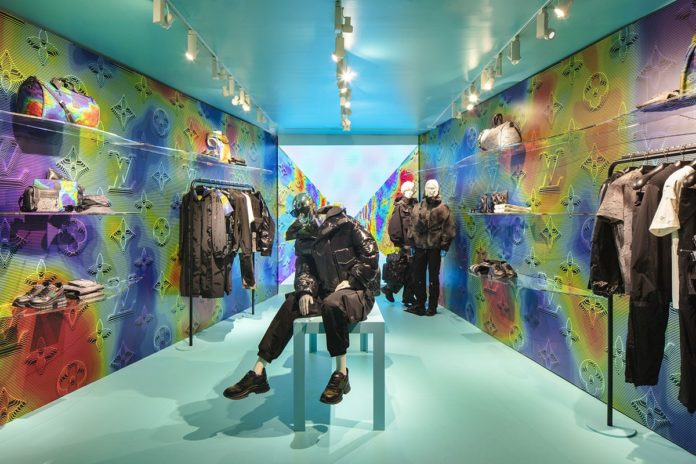 Soho pop-up shop by Louis Vuitton ahead of 2054 collection launch