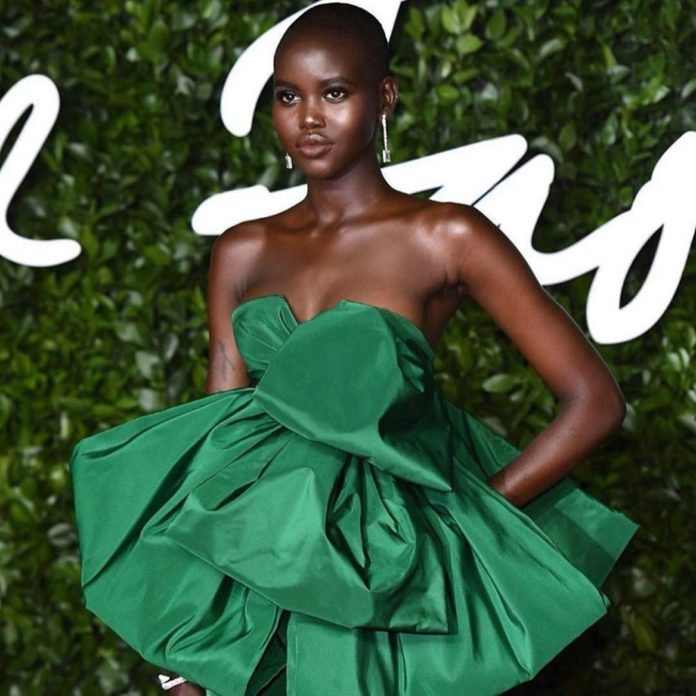 South Sudanese Model Adut Akech BagsModel Of The Year At Fashion Awards 2019