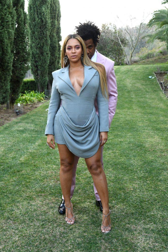 Jay Z and Beyoncé at Roc Nation Brunch